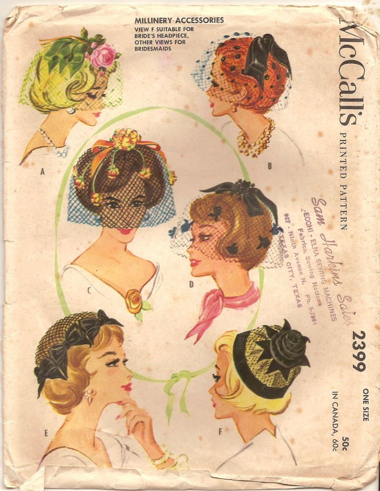 McCalls 2399 Vintage Veil Pattern from 1961 | The Style Spectrum